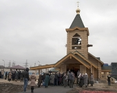 Епископ Воскресенский Савва совершил чин освящения храма преподобного Саввы Освященного в Люблино г. Москвы