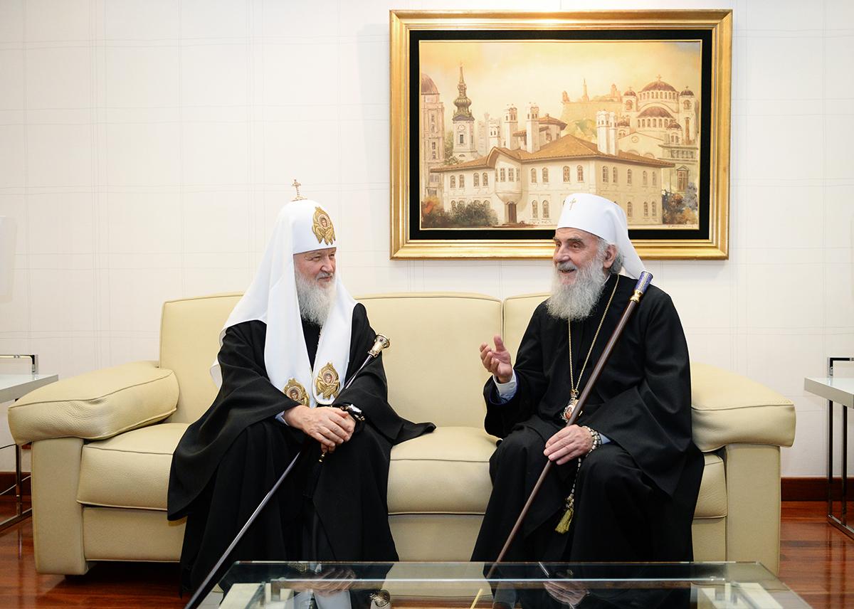 14 ноября 2014 года. Визит Святейшего Патриарха Кирилла в Сербскую Православную Церковь. Прибытие в Белград.