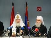 Святейший Патриарх Кирилл прибыл в Белград