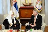 Состоялась встреча Предстоятелей Русской и Сербской Православных Церквей с Президентом Сербии Т. Николичем