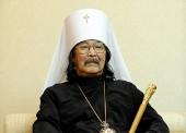 Патриаршее поздравление митрополиту Токийскому и всей Японии Даниилу с 45-летием служения в священном сане и 15-летием архиерейской хиротонии