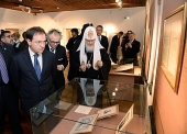 Святейший Патриарх Кирилл посетил выставку «Россия и Сербия. История духовных связей» в Белграде
