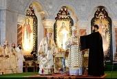 Предстоятели Русской и Сербской Православных Церквей совершили Божественную литургию в белградском соборе святителя Саввы Сербского