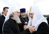 В завершение визита Святейшего Патриарха Кирилла в Сербию в Белграде состоялся прием в честь Его Святейшества