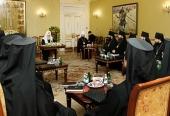 Святейший Патриарх Кирилл встретился со слушателями курсов повышения квалификации для новопоставленных архиереев Русской Православной Церкви