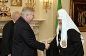Встреча Святейшего Патриарха Кирилла с новоназначенным послом США в России Джоном Ф. Теффтом