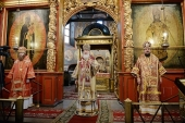 Слово Святейшего Патриарха Кирилла в праздник Собора Архистратига Михаила в Архангельском соборе Московского Кремля