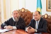 Состоялась встреча членов Синода Казахстанского митрополичьего округа с председателем Комитета по делам религий Республики Казахстан