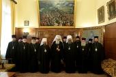 Святейший Патриарх Болгарский Неофит приветствовал делегацию Московского Патриархата