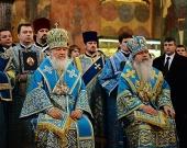 В праздник Введения во храм Пресвятой Богородицы Предстоятели Русской Православной Церкви и Православной Церкви в Америке совершили Литургию в Успенском соборе Московского Кремля