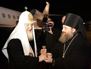 Предстоятель Русской Церкви прибыл в Калининградскую епархию