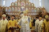 Предстоятель Русской Церкви совершил чин великого освящения храма св. Александра Невского в Калининграде и возглавил Литургию в новоосвященном храме