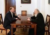 Состоялась встреча Святейшего Патриарха Кирилла с губернатором Калининградской области Н.Н. Цукановым