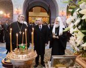 Президент России В.В. Путин посетил храм преподобного Сергия Радонежского в Царском Селе