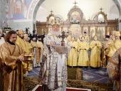 Предстоятель Русской Церкви совершил великое освящение восстановленного храма преподобного Сергия Радонежского в Царском Селе