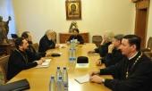 Митрополит Волоколамский Иларион возглавил заседание коллегии Координационного центра по развитию богословской науки в Русской Православной Церкви