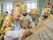 Предстоятель Украинской Православной Церкви освятил престол Крестовоздвиженского кафедрального собора города Житомира
