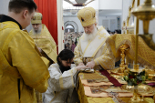 В день памяти святителя Николая Чудотворца Предстоятель Русской Церкви совершил великое освящение храма Благовещения Пресвятой Богородицы в Сокольниках г. Москвы