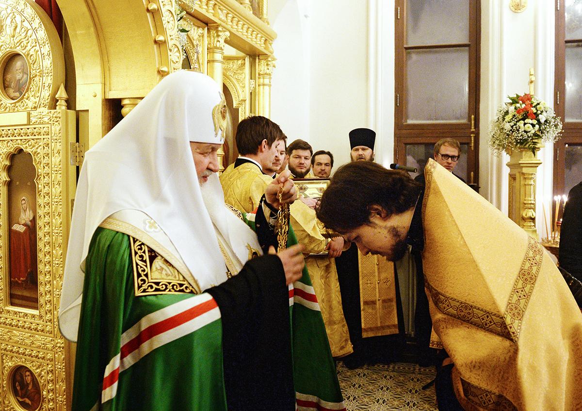 Освящение храма святых мучениц Татианы и Софии при Детской клинической больнице имени Н.Ф. Филатова в Москве