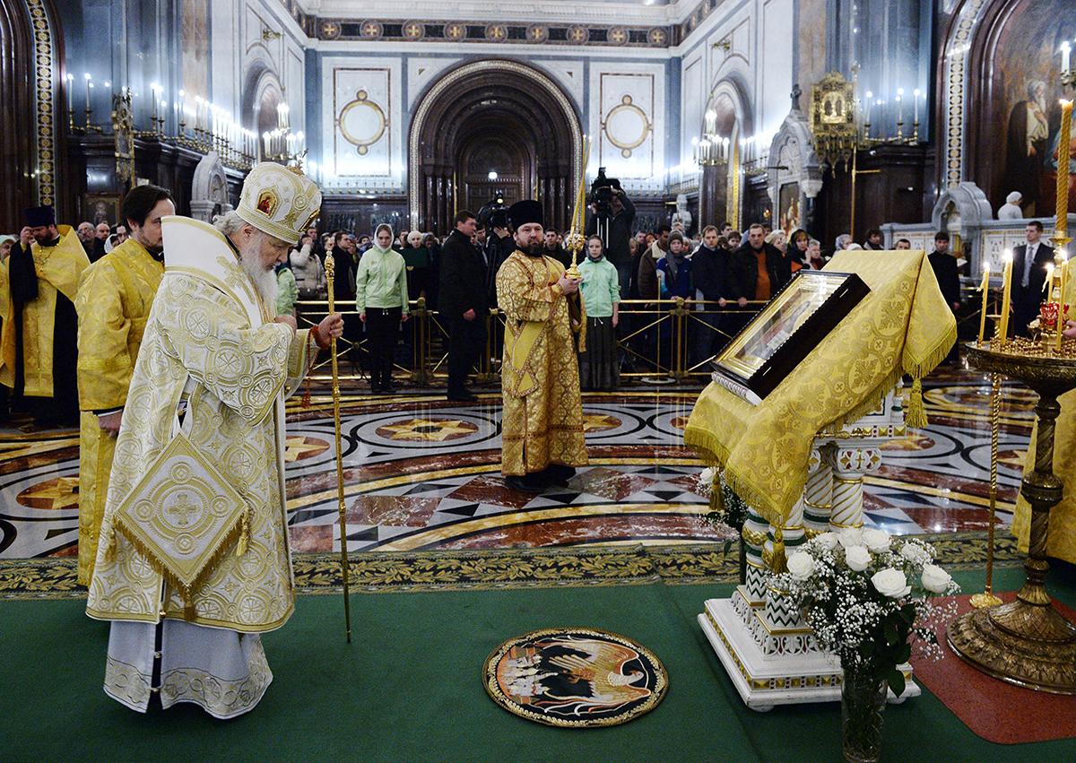 Патриарший новогодний молебен в Храме Христа Спасителя