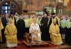 Патриаршее служение в праздник Собора Пресвятой Богородицы в Успенском соборе Московского Кремля
