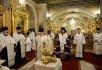 Всенощное бдение в канун Крещения Господня в Богоявленском кафедральном соборе г. Москвы