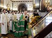 Перед началом работы XXIII Международных Рождественских образовательных чтений Святейший Патриарх Кирилл совершил Литургию в Храме Христа Спасителя