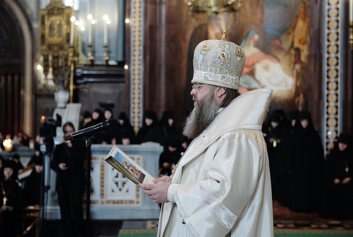 Патриаршее служение в Храме Христа Спасителя перед началом работы XXIII Международных Рождественских чтений