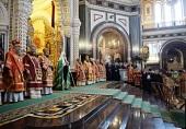 В день памяти мученицы Татианы Предстоятель Русской Церкви совершил Литургию в Храме Христа Спасителя в Москве