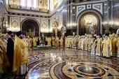 В шестую годовщину интронизации Святейшего Патриарха Кирилла в Храме Христа Спасителя совершена Божественная литургия