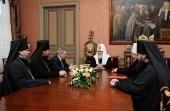 Святейший Патриарх Кирилл встретился с губернатором Красноярского края и архиереями Красноярской митрополии