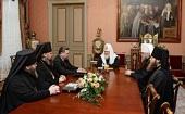 Святейший Патриарх Кирилл встретился с губернатором Курской области и архиереями Курской митрополии