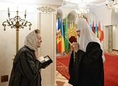 Святейший Патриарх Кирилл встретился с жительницей Донецка З.И. Радченко
