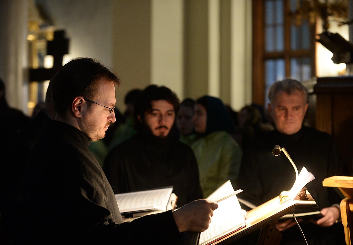 Патриаршее служение в понедельник первой седмицы Великого поста в Даниловом ставропигиальном монастыре