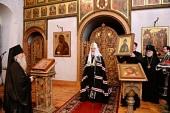 Проповедь Святейшего Патриарха Кирилла после великого повечерия в среду первой седмицы Великого поста в Андреевском ставропигиальном монастыре