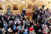 В четверг первой седмицы Великого поста Святейший Патриарх Кирилл молился за уставным богослужением в Зосимовой пустыни