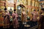 В канун субботы 1-й седмицы Великого поста Святейший Патриарх Кирилл совершил утреню в Новоспасском ставропигиальном монастыре