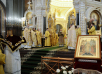 Патриаршее служение в Храме Христа Спасителя в праздник Торжества Православия