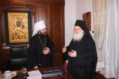 Митрополит Волоколамский Иларион посетил Ватопедский монастырь и русский скит Ксилургу на Афоне