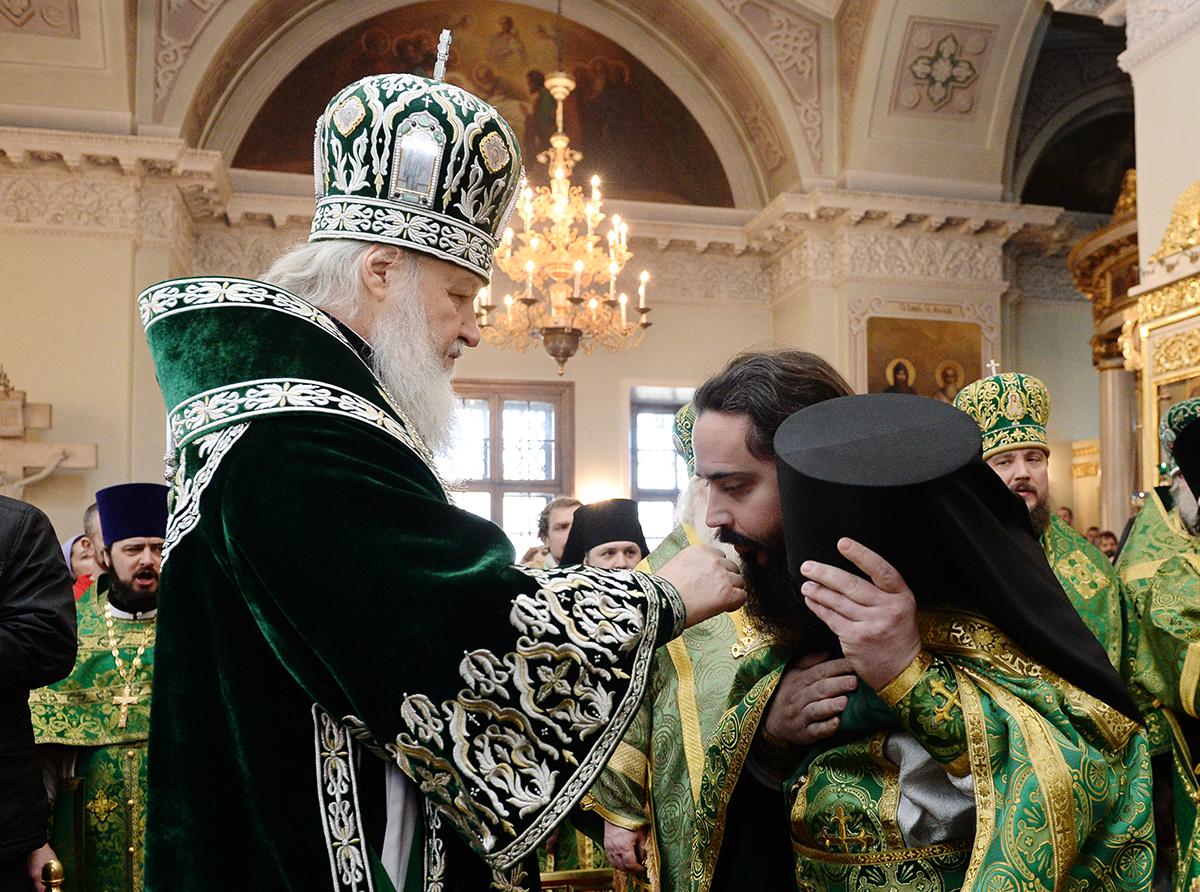 Патриаршее служение в день памяти святого благоверного князя Даниила в Даниловом ставропигиальном монастыре
