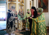 В день памяти святого благоверного князя Даниила Московского Предстоятель Русской Церкви совершил Литургию в Даниловом ставропигиальном монастыре