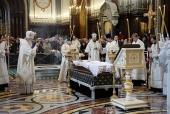 Святейший Патриарх Кирилл совершил отпевание писателя В.Г. Распутина