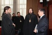 Архиереи-слушатели курсов повышения квалификации посетили лекции в Российской академии народного хозяйства и государственной службы