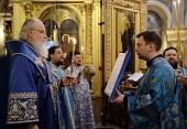 Патриаршее служение в канун субботы 5-й седмицы Великого поста в Богоявленском кафедральном соборе г. Москвы