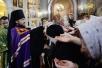 Патриаршее служение в праздник Входа Господня в Иерусалим в Храме Христа Спасителя. Хиротония архимандрита Порфирия (Преднюка) во епископа Лидского и Сморгонского