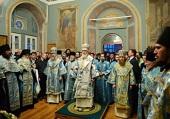 В канун праздника Благовещения Пресвятой Богородицы Святейший Патриарх Кирилл совершил всенощное бдение в Заиконоспасском ставропигиальном монастыре