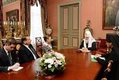 Святейший Патриарх Кирилл встретился с послом Польши в России