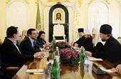 Святейший Патриарх Кирилл встретился с премьер-министром Греческой Республики Алексисом Ципрасом