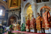 Пасхальная великая вечерня в Храме Христа Спасителя в Москве