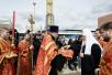 Освящение закладного камня в основание храма св. Феодора Ушакова в столичном районе Южное Бутовo